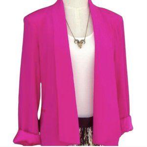 Charlie Jade Hot Pink 100% Silk Blazer